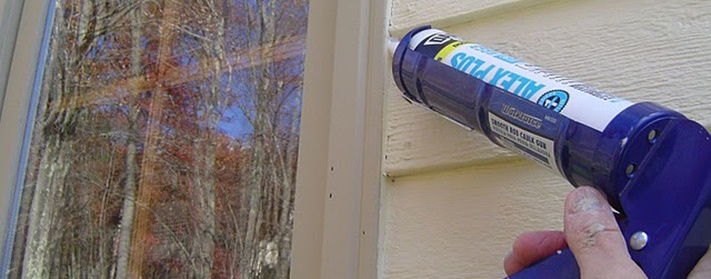 Caulk around windows