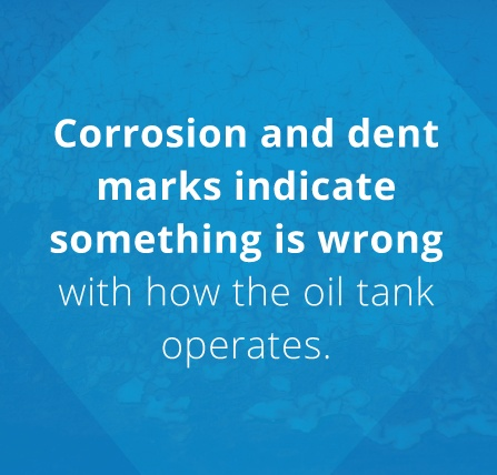 corrosion and dents