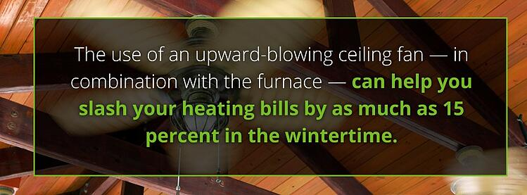 use ceiling fans furnace