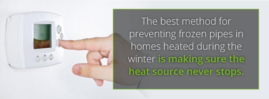 heat on winterization