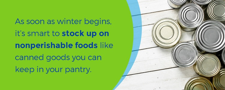 stock up on food