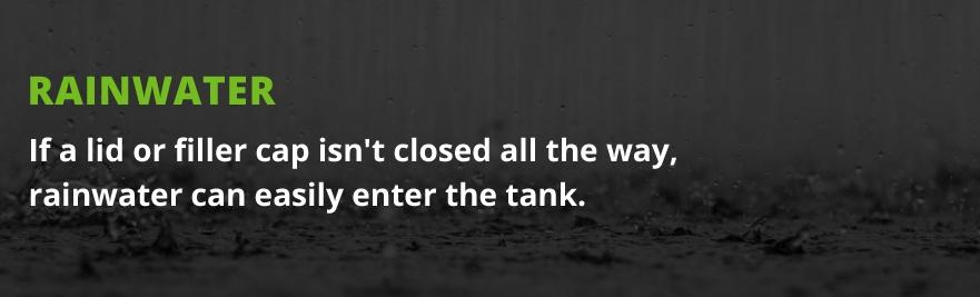 rainwater in tank
