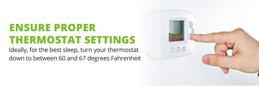 sleep thermostat setting