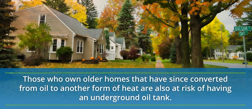 homes with underground tanks