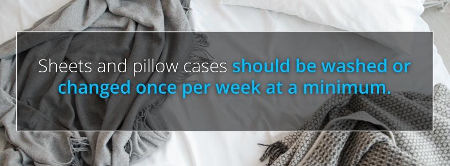 change bedding weekly