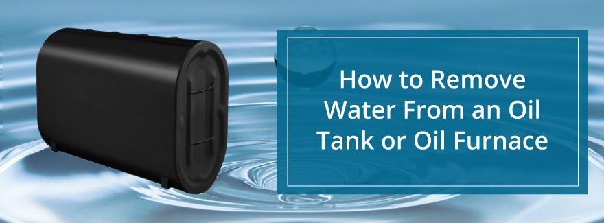remove water from tank